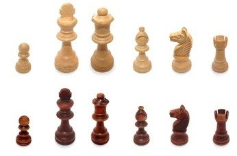 Material refers to the pieces and pawns on the board