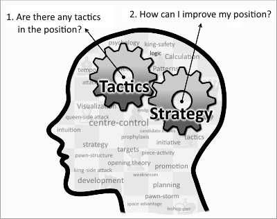 Chess is not only tactics. Tactics and strategy work together to help you achieve your objectives.