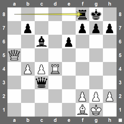 28... Rf8 is the best way for black to deal with the threat of Rd8+