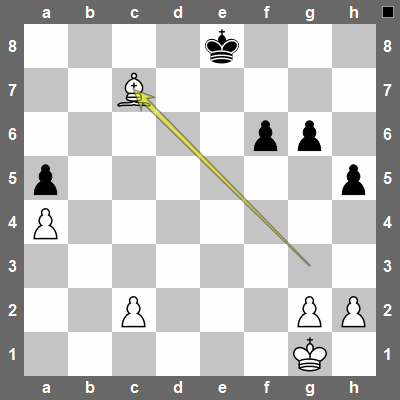 Once the rooks are exchanged, white plays Bc7. Now white will totally dominate the position since black can't defend against the bishop's threats.