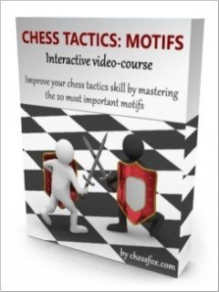 Chess tactics video-course with more than 120 puzzles to help you master the most important tactical motifs. GET IT NOW!