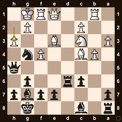 White played h2-h3, one of 3 ways to deal with the mate threat.