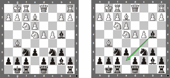 White is threatening to ruin black's king-side pawn-structure with Nxf6. What can black do to prevent this?
