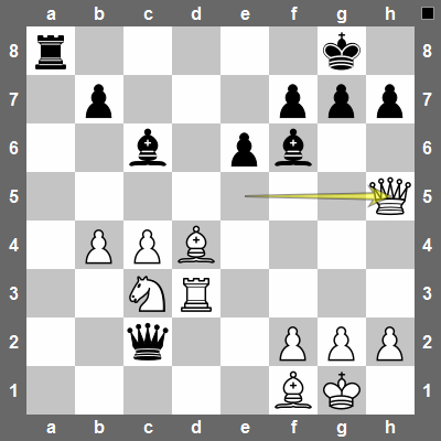 Qxh5 forces black to play Bxd4, else he would lose material.