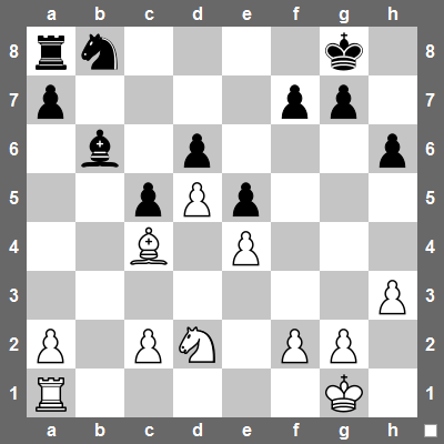 White to play. What would you do?