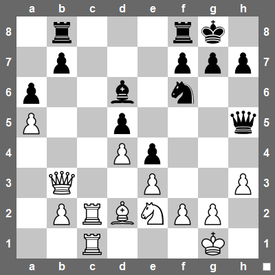 White to move. What would you do?
