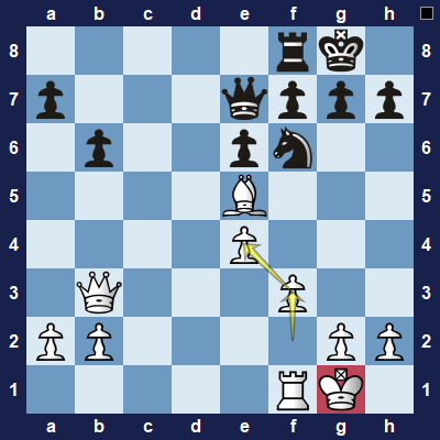 This was not a good way to defend the pawn because it exposed the white king.
