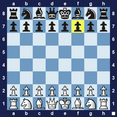 The 4-move checkmate will focus on attacking the f7-sqaure.