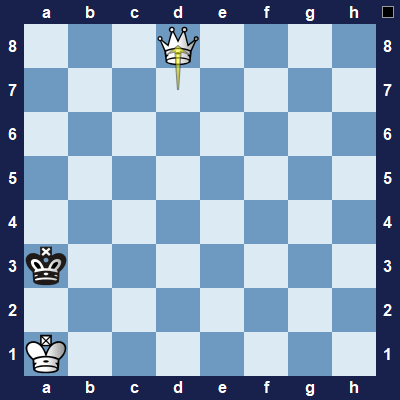 The pawn promoted to a queen.