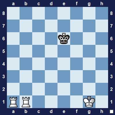 How can you use the rooks to checkmate black's king?