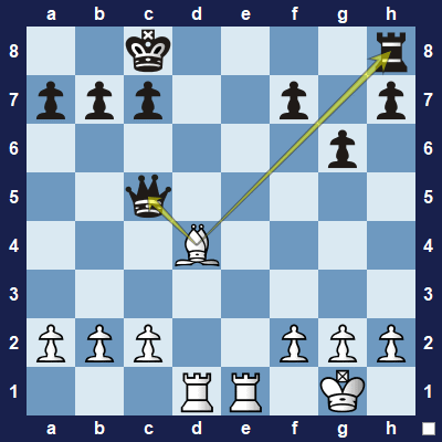 Which piece should white capture - the queen or the rook?