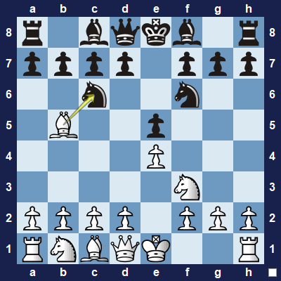 An exchange: White can capture black's knight. Black will probably capture you back with one of the pawns.