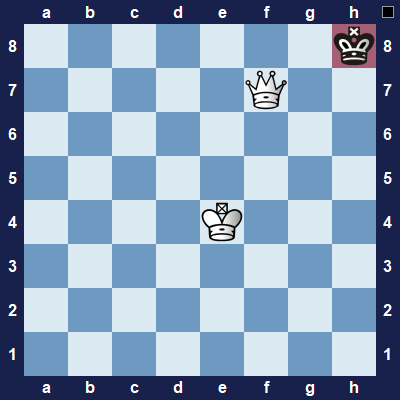 It's black's turn. They can't move anything and they are not in check. Stalemate. Draw.