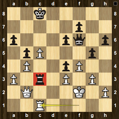 easy pin tactics puzzle 2 solution