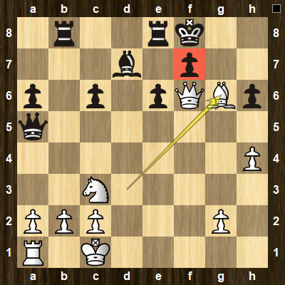 easy pin tactics puzzle 4 solution