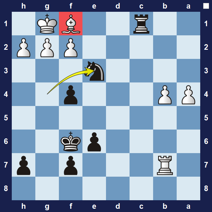 advanced chess tactics pins puzzle 5b solution