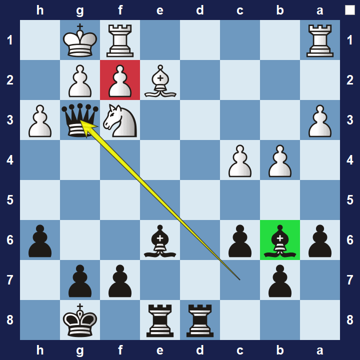 easy pin tactics puzzle 1b solution