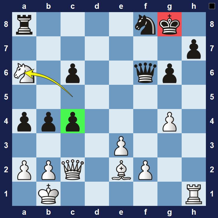 intermediate chess puzzle attracion 1 solution