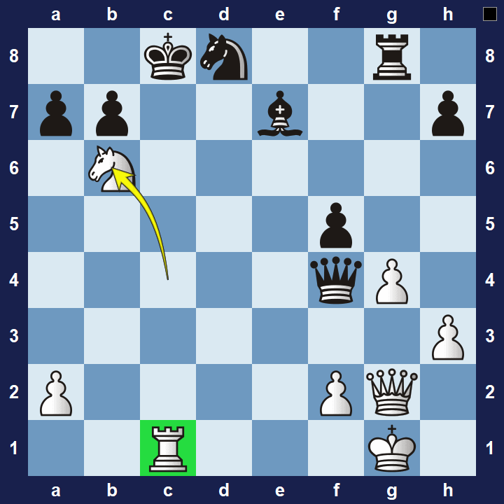 intermediate chess puzzle double check 1 solution