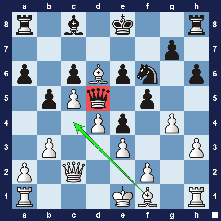 intermediate chess tactics trapped pieces