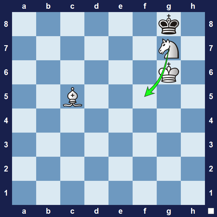 Knight Hook maneuver checkmate