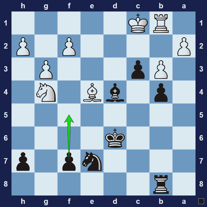 pawn fork chess tactic